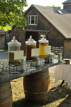 Self serve dispensers of specialty drinks, Boston Event Planner Susan Lane | Susan Lane Events- Boston Event Planning, Weddings, Bar and Bat Mitzvahs