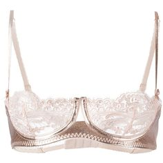 Loveday London cropped lace bra (620 BRL) ❤ liked on Polyvore featuring intimates, bras, lingerie, underwear, bra's, lacy bras, purple lace bra, pink lace lingerie, pink lace bra and lingerie bra