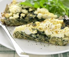 Looking for a quick and healthy dinner idea? This silverbeet and cheese frittata makes a light and tasty weeknight dish. Gnocchi Recipes, Pork Recipes, Lunch Recipes, Breakfast Recipes, Egg Recipes, Peach Pork Chops, Baking With Honey, Frittata Recipes