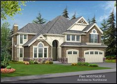 Craftsman, Traditional House Plans - Home Design CD-M3570A3F-0 # 14993