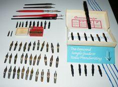 Vintage Caligraph Pens Nibs Esterbrook Gillotte Hunt Isaac Speedball Osmiroid