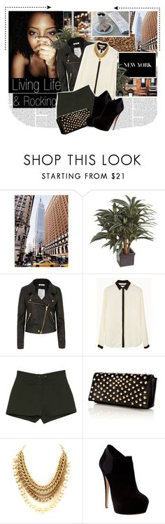 """""""Inspiration Tag!! Empire State of Mind"""" by posh-period ❤ liked on Polyvore featuring Pier 1 Imports, Shine, Warehouse and Casadei"""
