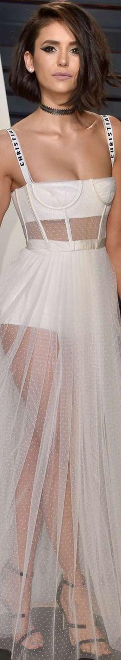 Nina Dobrev 2017 Vanity Fair Oscar Party