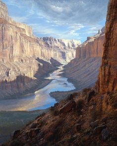 Original Fine Art Oil Paintings and Conté Drawings by American Landscape Artist Curt Walters, Master of the Grand Canyon. Western Landscape, Landscape Art, Landscape Paintings, Oil Painting Pictures, Winter Painting, Park Art, Southwest Art, True Art, Western Art