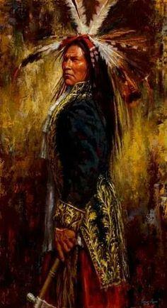 A Lakota warrior
