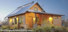 Straw bail homes are green but far from simple living.  This was built for about $88,000 and its extra lovely.