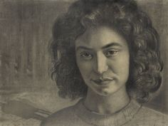"""Mala"" (1931) by Marian Konarski (Polish,1909-1998); pencil on paper. DESA"