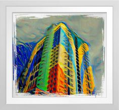 New World Genting - Art On Canvas Print. Original art by Roger Smith. New World Hotel, Genting Highlands, Malaysia. Reproduced on Premium Canvas http://www.zazzle.com/new_world_genting_art_on_canvas_print-228258373311378447 #art #print #Malaysia #GentingHighlands #RogerSmith