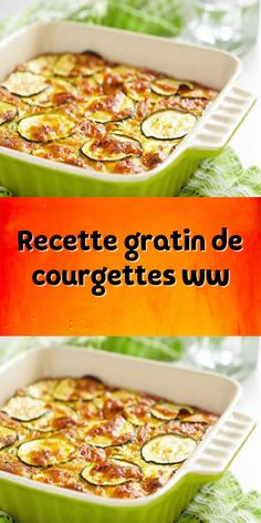 a delicious baking dish for your main meal. an easy Weight Watchers recipe for the whole family. Courgettes Weight Watchers, Plats Weight Watchers, Weight Watchers Meals, Healthy Breakfast Wraps, Breakfast For Dinner, Breakfast Recipes, Vegan Crockpot Recipes, Healthy Diet Recipes, Batch Cooking