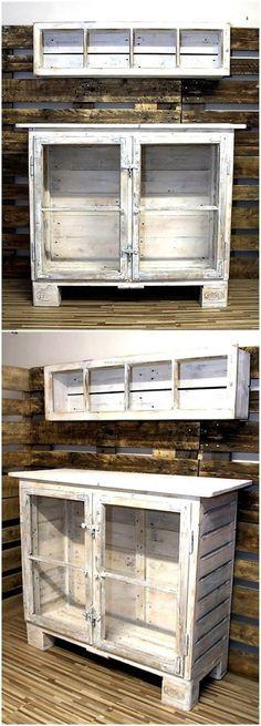 pallet storage cabinet for kitchen