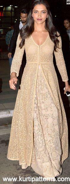 Dress No. 5 - Deepika Padukone Chikankari Anarkali                                                                                                                                                                                 More