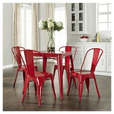 Red Cafe Dining Set.