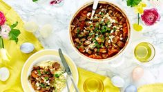 Aprikoosi-lammastagine Couscous, Chana Masala, Ethnic Recipes, Food, Meals, Yemek, Eten