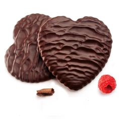 Moravian Chocolate-Enrobed Raspberry Heart Cookies from Southern Season.