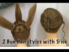 Learn this very new easy bun hairstyle with trick. I have shown two bun updo to do with lehnga, gown or saree. these messy bun updo hairstyles are . Simple Bridal Hairstyle, Bridal Hair Buns, Simple Wedding Hairstyles, Easy Hairstyle, Bun Hairstyles For Long Hair, Party Hairstyles, Braided Hairstyles, Ladies Hairstyles, Quick Hairstyles