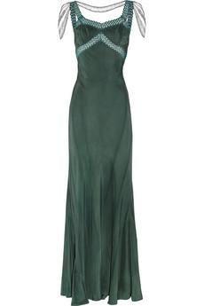 Erickson Beamon Embellished silk gown