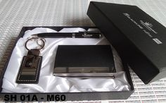 M60: a business card holder, pen and keychain to commemorate the 25th company anniversary, which will be distributed to the directors, managers and all atendees. Ordered by PT Equine Technologies, Jakarta