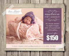 Newborn Photography Marketing Board  5x7 Mini by StudioTwentyNine, $8.00