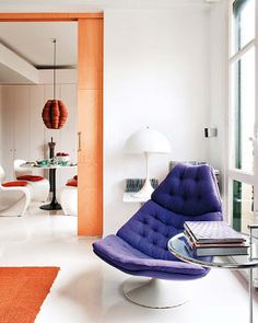 oh purple contemporary chair love