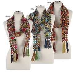 Flower crochet scarves inspiration