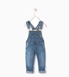 ZARA - KIDS - Long denim dungarees