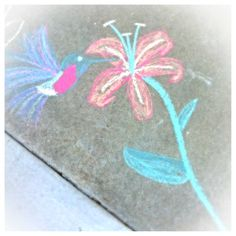 Simple chalk art of the sidewalk By christin, Chalk is this type of fun solution to be creative! It has a wonderful texture, many colors, and can, Easy Chalk Drawings, Chalk Design, Sidewalk Chalk Art, Chalkboard Art, Summer Art, Tag Art, Doodle Art, Creative Art, Art For Kids