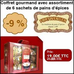 #missbonreduction; Remise de 9% sur le Coffret gourmand avec assortiment de 6 sachets de pains d'épices. 	http://www.miss-bon-reduction.fr//details-bon-reduction-Fortwenger-i852818-c1833187.html