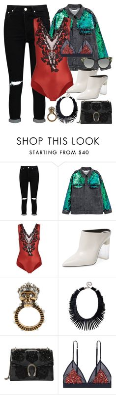 """""""Going On"""" by dissolving-film ❤ liked on Polyvore featuring Boohoo, Pour La Victoire, Alexander McQueen, Kenneth Jay Lane, Gucci and LoveStories"""