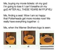 I lost it at the Warner Brothers logo
