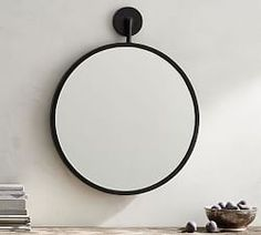 The clean geometric designs of our Frances Collection adds a rustic aesthetic to the bath. The mirror features a leather hanging rope for added style. Round Hanging Mirror, Hanging Rope, Round Mirrors, Beaded Mirror, Driftwood Mirror, How To Clean Mirrors, Arch Mirror, Wall Candle Holders, Custom Rugs