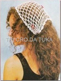 TRI CRO DA TUKA: bandana/crochê