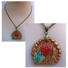 Magical Fairy Door Pendant Necklace w/ Heart Jewelry Handmade NEW