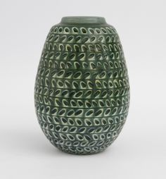 Gertrud Lonegren; Glazed Ceramic Studio Vase for Rorstrand, c1940.