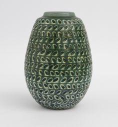 Gertrud Lonegren; Glazed Ceramic Studio Vase for Rorstrand, c1940.