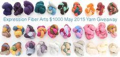 Expression Fiber Arts   A Positive Twist on Yarn – $1000 May 2015 Yarn Giveaway!