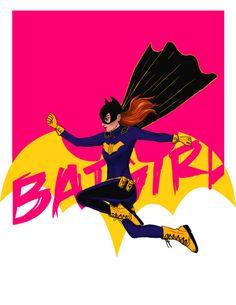 DC Batgirl Barbara Gordon Art Print- 4x6 and 8x10 :: Raicodoll Etsyshop