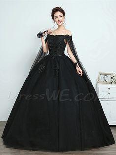 Buy Back Off-The-Shoulder Vintage Ball Gown Dress Online d043c457f