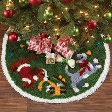Latch Hook Christmas Tree Skirt