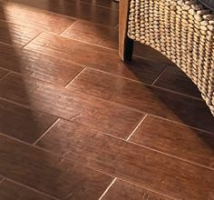 Tile that looks like wood flooring : Our Home Away From Home