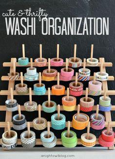 Washi Tape Organization #washi #washitape #organization