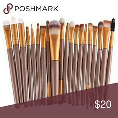 NWT 20 PIECE PROFESSIONAL MAKE UP BRUSHES 100% brand new and high quality Quantity: 20pcs/set  Item type:Make up brush  Material:Goat hair  Handle material:Wood  Brush material:Synthetic Hair  A professional quality brush set which includes all the basics you need for daily applications   Suitable for Professional use or Home use   Easy to stick powder, natural color, rendering uniform   With proper care, your brushes can be enjoyed for years. MAC Cosmetics Makeup Brushes & Tools