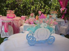 Join the Word of Princess Birthday Decorations and DIYs Disney Princess Birthday Party, Princess Theme Party, Cinderella Birthday, 4th Birthday Parties, Birthday Party Decorations, Princess Party Centerpieces, Princesse Party, Cinderella Story, Party Fiesta