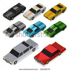 awesome car vector #car #vehicle #isometric #transportation #design #art #popular #bumblebee