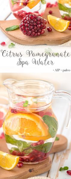 Citrus Pomegranate Spa Water | Real Food & Love