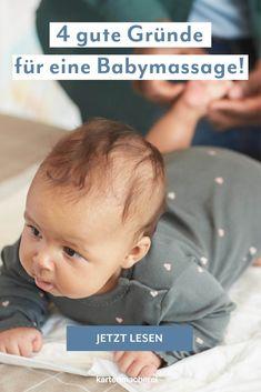 Baby Verwöhnprogramm! Wertvolle Babymassage-Tipps einer Expertin: Eine Babymassage sorgt für ein entspanntes und geborgenes Gefühl bei deinem Baby, stärkt die Eltern-Kind Bindung und fördert die seelische und körperliche Entwicklung. Im Magazin erfährst du wann und wo der richtige Ort für eine Babymassage ist, welche Dinge du benötigst und wie du Schritt für Schritt vorgehst. Baby Massage, Face, Parents, Pregnancy, Birth, Tips, The Face, Faces, Facial