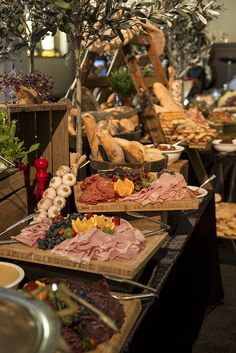 Delightful rustic Italian grazing board from Simone & Matthew's Curzon Hall Wedding ~ June 2015.