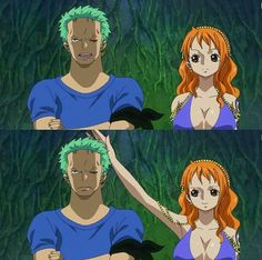 Zoro and Nami One Piece