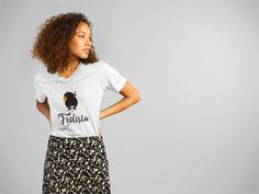 Whether coily, kinky or curly this frolista tee represents you to a T. Showing natural hair diversity. @JadeNJazzBoutique on Instagram - for frolista model tee http://shop.spreadshirt.com/JadeNJazz