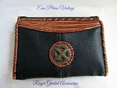 Roger Gimbel Tri Fold Ladies Billfold Wallet by EauPleineVintage