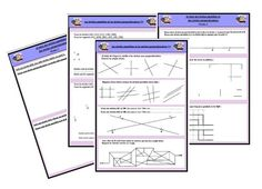 fiches d'exercices droites parallèles, droites perpendiculaires Math Figures, Gestion Administration, School Organisation, Math 5, Core French, New Class, Best Teacher, Fractions, Math Lessons